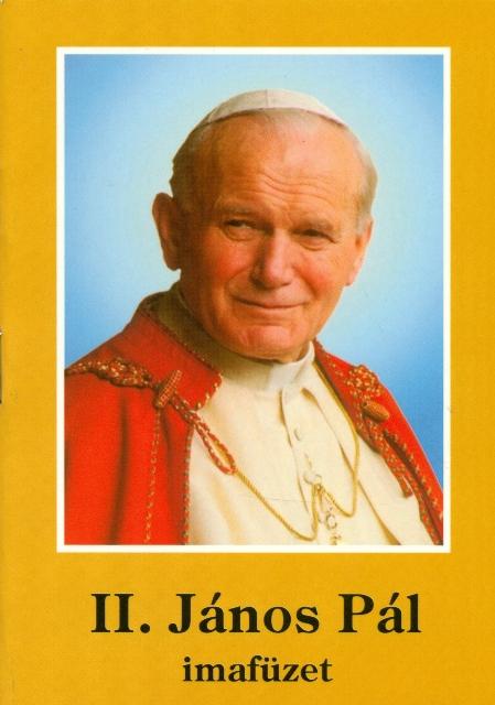 II. János Pál imafüzet-0