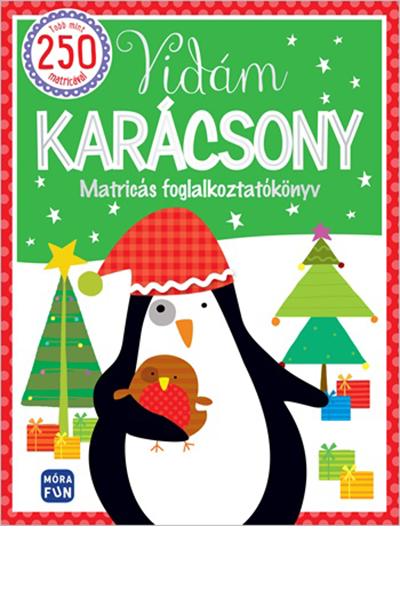 Vidám karácsony - matricás foglalkoztatókönyv