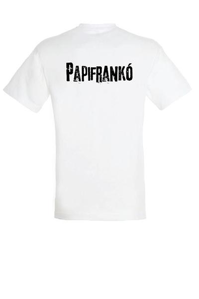 Papifrankó póló - férfi, fehér