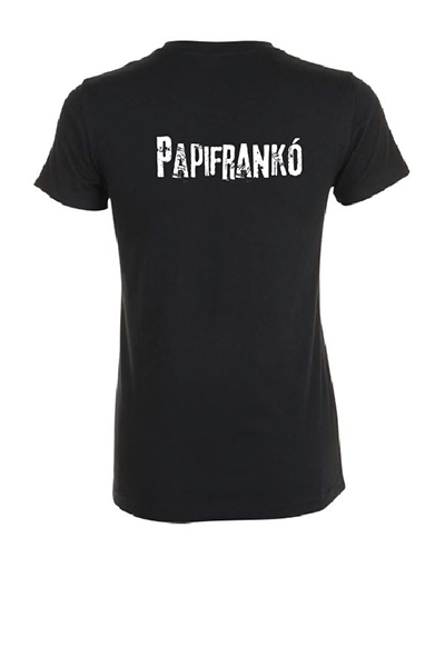 Papifrankó póló - női, fekete