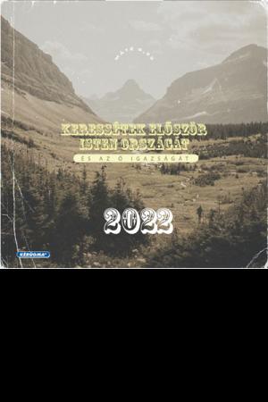 Falinaptár 2022 négyzetes (Kérügma) - Keressétek először Isten országát