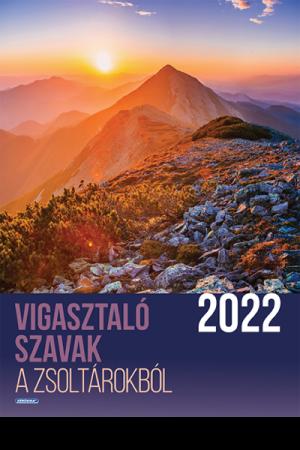 Falinaptár 2022 nagy (Kérügma) - Vigasztaló szavak a Zsoltárokból